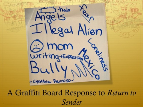 graffiti board for return to sender