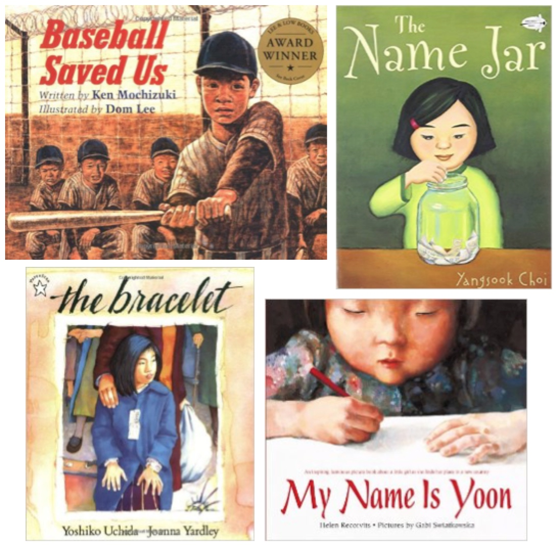 new trends in transnational Asian children's books, The Name Jar Choi, My Name Is Yoon Recorvits, Baseball Saved Us Mochizuki, The Bracelet Uchida