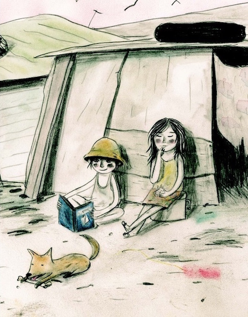 Interior illustration from Pablo Finds a Treasure by Andree Poulin and Isabelle Malenfant.