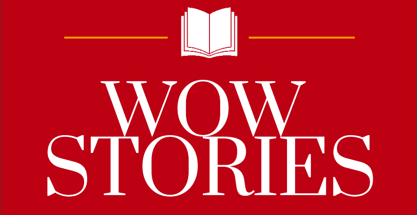 WOW Stories banner, title