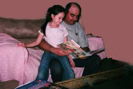 A Father Reading with His Daughter