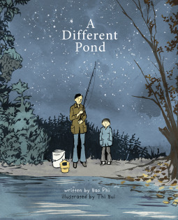 A Different Pond cover featuring a boy and father fishing at night