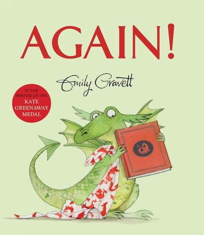 Again cover depicts a happy dragon with a blanket holding up a book in inquiry.
