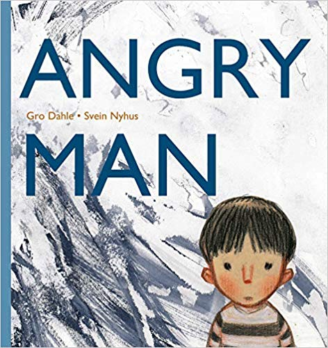 Angry Man Cover depicts Young boy with straight brown hair and a grave expression in lower right corner.