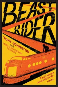 Beast Rider cover is yellow with an orange zigzagging train with a rider on top.