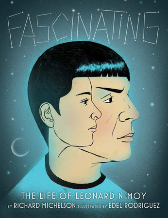 Cover of Fascinating depicting the side profile of the character Spock with a young Leonard Nimoy side profile inside his head.