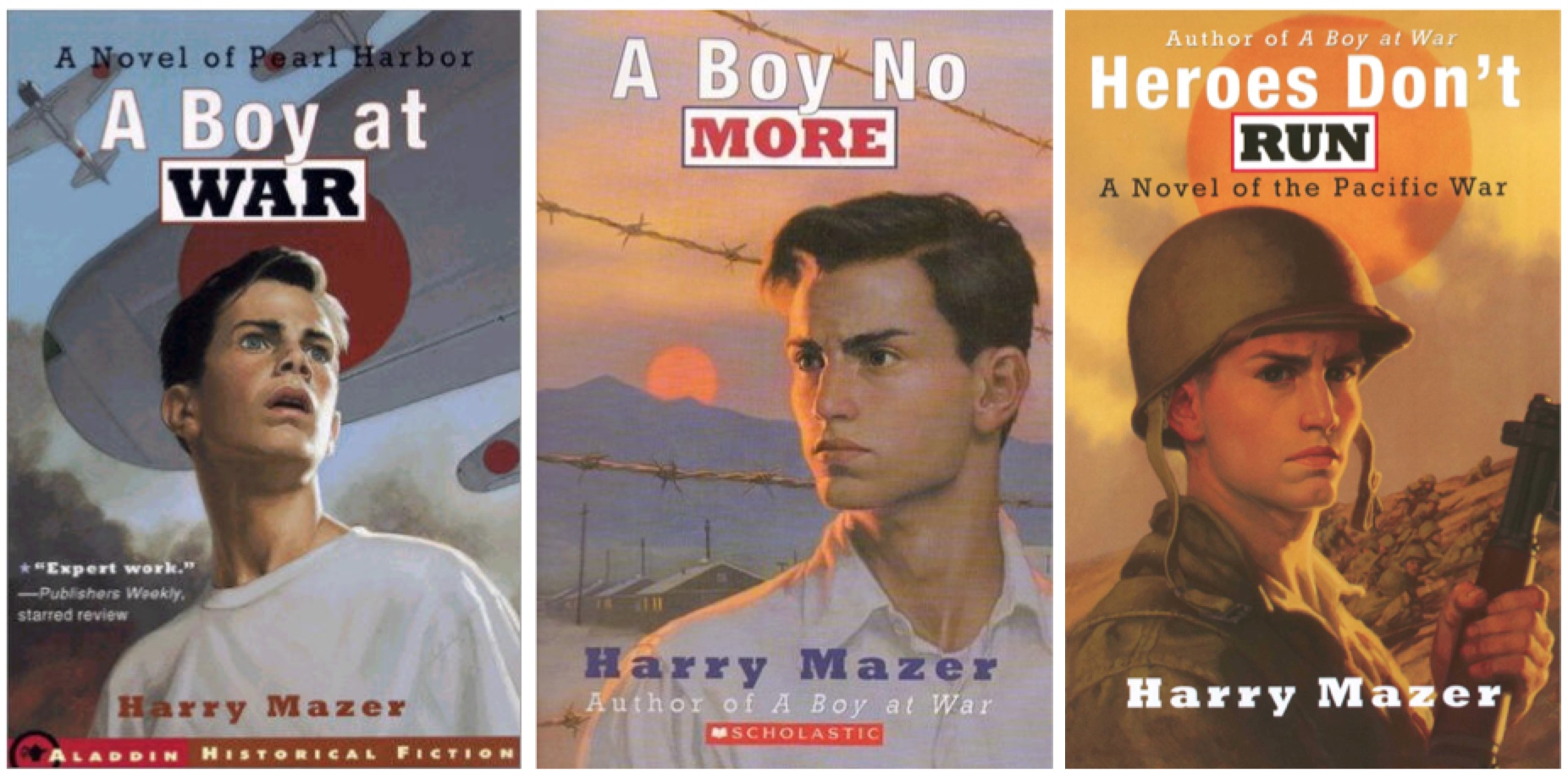 World War II in the Pacific through Harry Mazer's novels