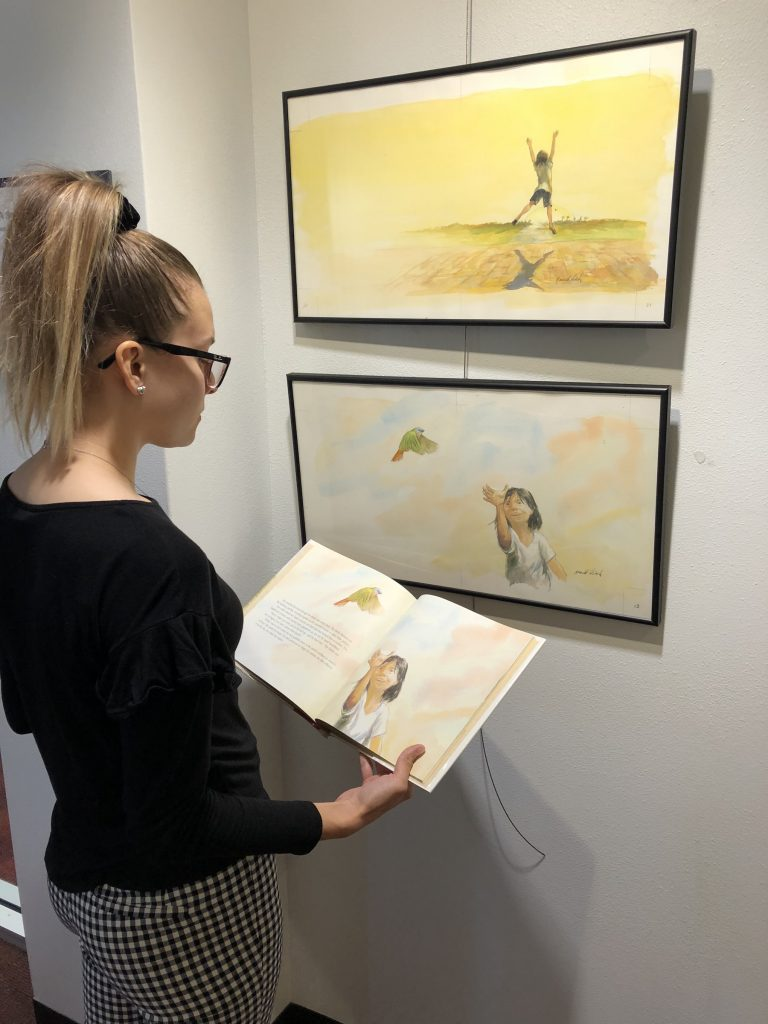 Lacey Nehls compares original Ronald Himler illustrations to published ones.
