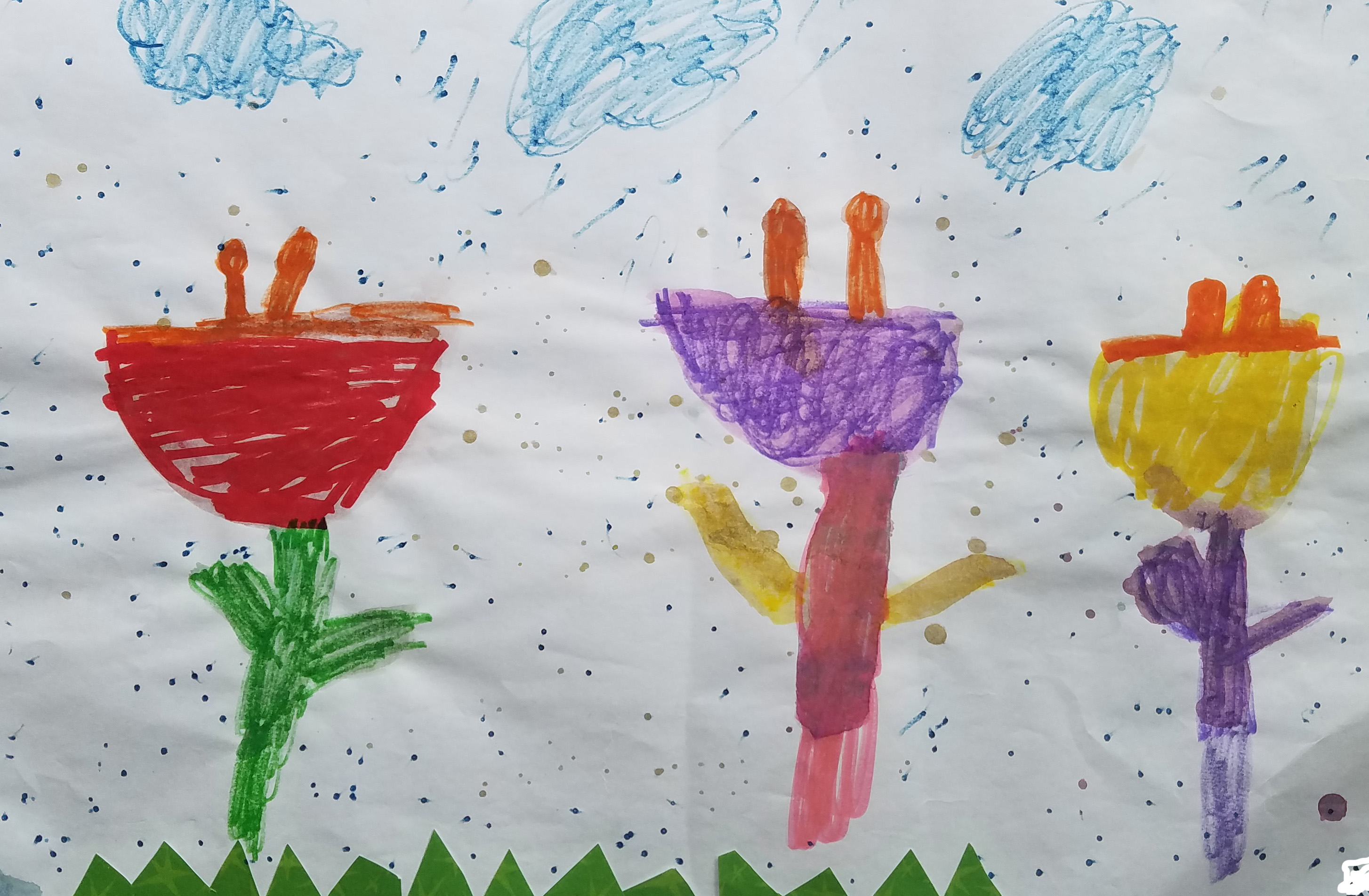 """Anthony, an English Language Learner, wrote """"Flowers in the Rainy"""""""