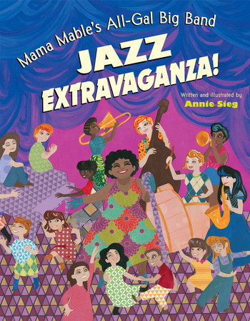 Mama Mable cover is done in collage-style with lots of people playing instruments and dancing around Mama Mable
