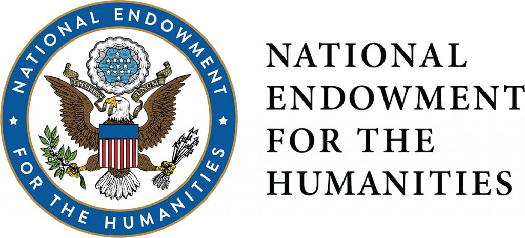 NEH logo includes US seal with eagle, olive branch and arrows