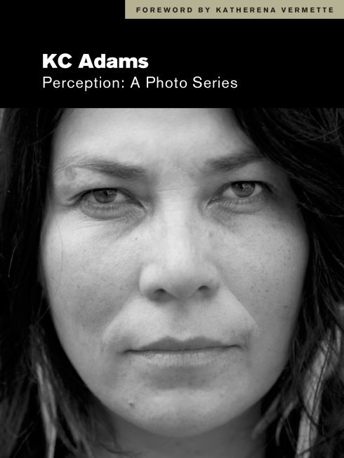 The cover of Perception is a black and white portrait of a woman looking into the camera.