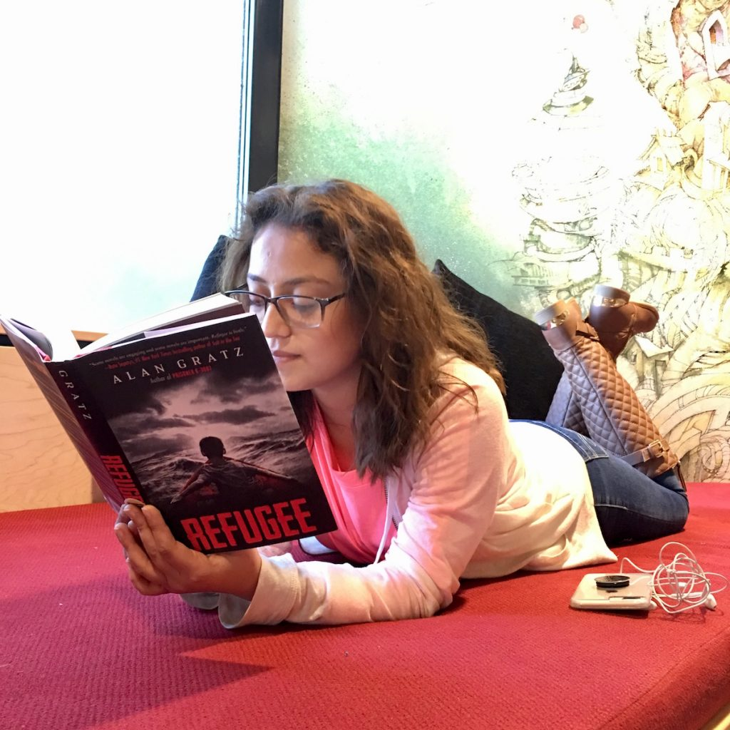 Carolina Hoyos reads Refugee by Alan Grats, the inaugural book for the Teen Reading Ambassador initiative.