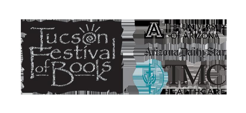 Tucson Festival of Books logo with sponsors listed