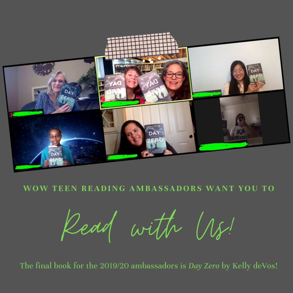 Ambassadors' Instagram post for Day Zero includes the text 'Read with us' and a screen shot from the literature discussion conducted on Zoom.
