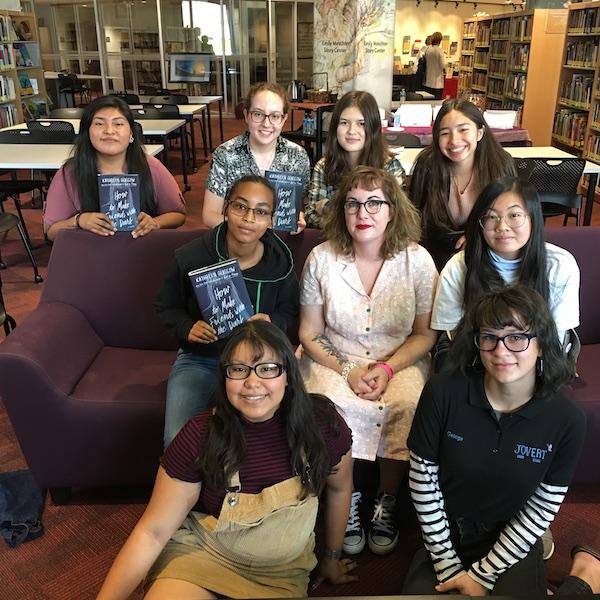 Ambassadors meet author Kathleen Glasgow.