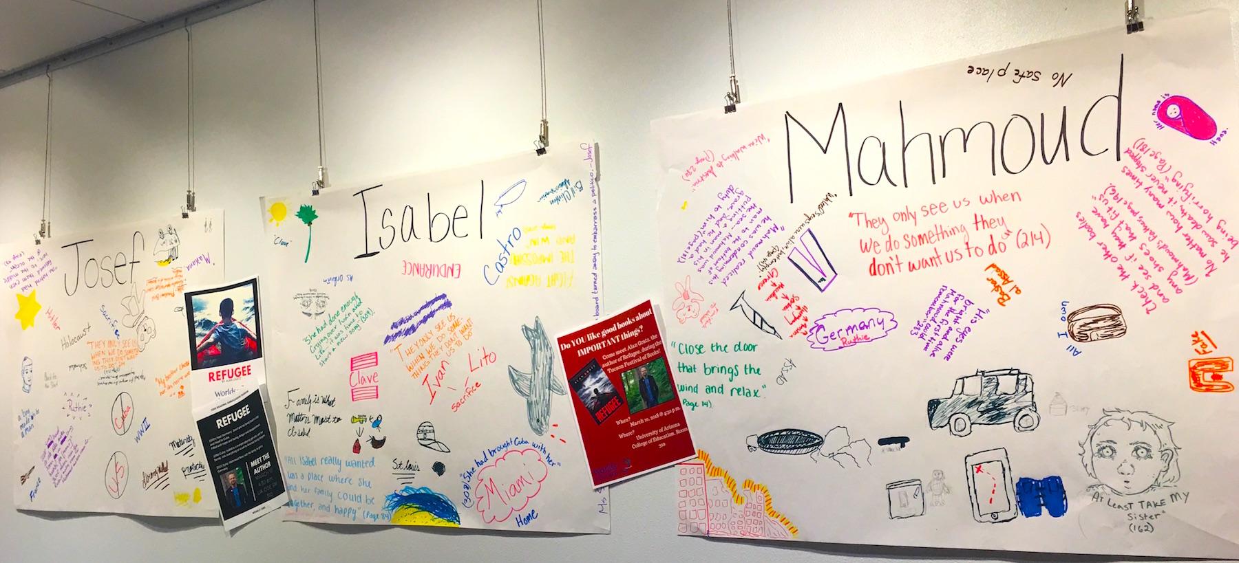 Teen Reading Ambassadors' Grafitti Walls