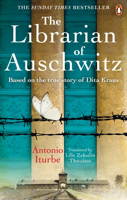 Book cover for the Librarian of Auschwitz