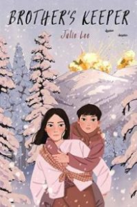 Cover of Brother's Keeper, depicting a girl and a young boy climbing an icy mountain.