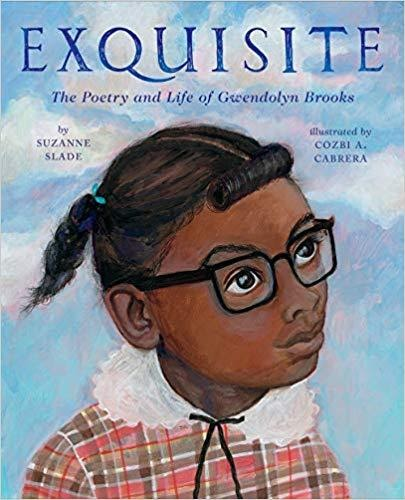Cover of Exquisite depicting a young black girl with glasses looking off to the side in front of a background of the sky.