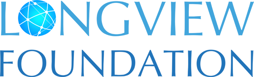 The Longview Foundation logo is the institution name where the O is replaced with a globe gridded on the diagonal.