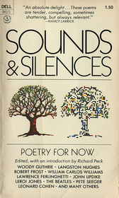 Cover of Sounds and Silences, depicting two trees, one drawn realistically and one drawn abstractly.