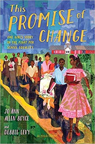 This Promise of Change cover depicting the Clinton 12 on a yellow road.