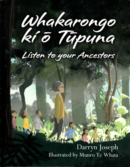 Whakarongo cover features an elder woman leading seven children through a lush New Zealand landscape